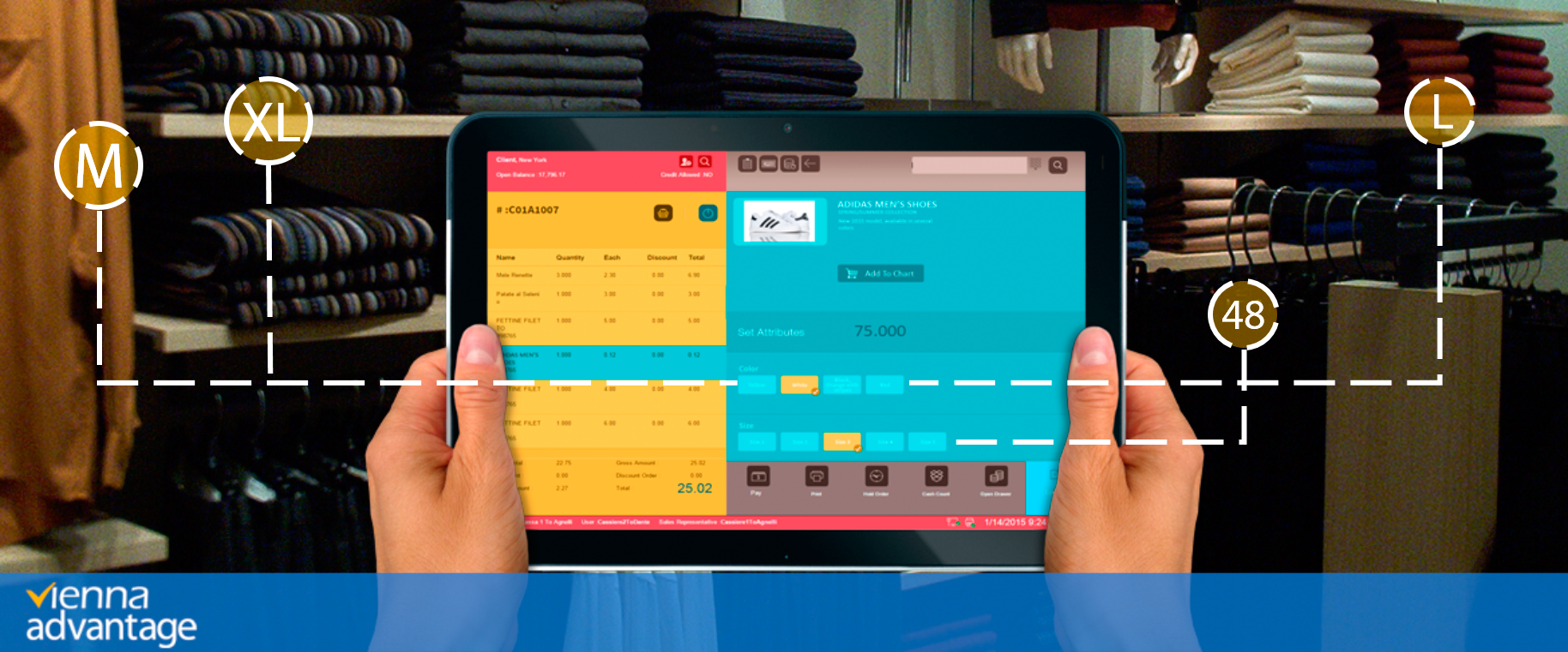 Using VIENNA Advantage POS in Apparels Business
